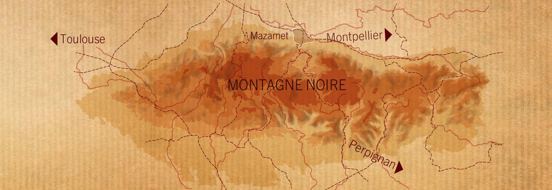 carte montagne noire