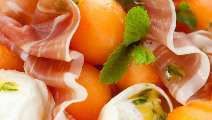 salade jambon sec